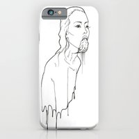 iPhone & iPod Case featuring Ink Possessed Melting Girl by Casstronaut