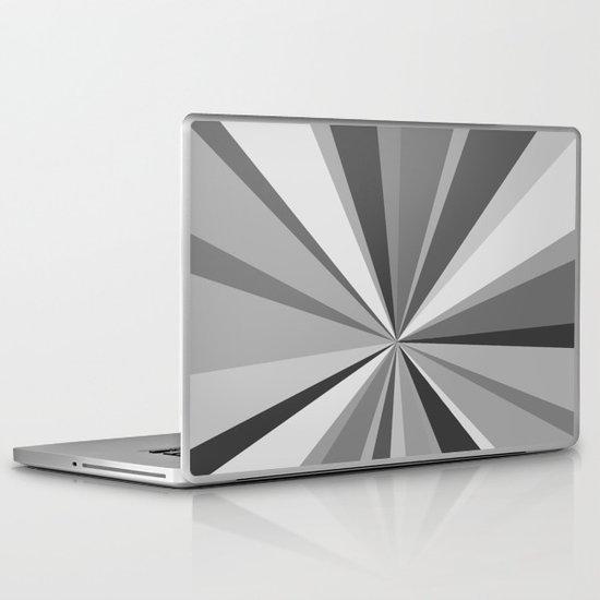 Monochrome Starburst Laptop & iPad Skin