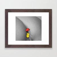 mouse hole Framed Art Print