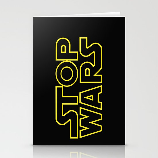 Stop Wars Stationery Card