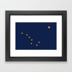 Alaska State Flag - Auth… Framed Art Print