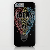 iPhone & iPod Case featuring Ideas need light (black version) by micheleficeli