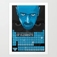 WALTER WHITE PERIODIC TA… Art Print