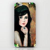Green Lady iPhone & iPod Skin