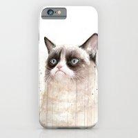 Grumpy Watercolor Cat II iPhone 6 Slim Case