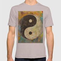 Yin Yang Mens Fitted Tee Cinder SMALL