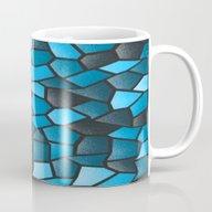Turquoise And Black Mosa… Mug