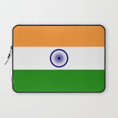 National flag of India - Authentic version to scale and color Laptop Sleeve