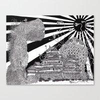The Battle of Matsumoto Canvas Print