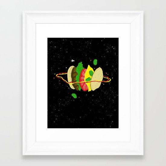 Planetary Discovery 8932: Cheeseburger Framed Art Print