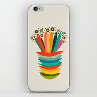 Colors And Flowers iPhone & iPod Skin
