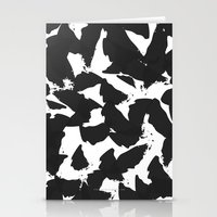 Black Bird Wings On Whit… Stationery Cards