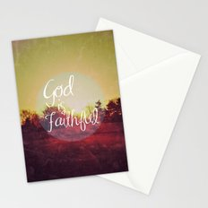 God is Faithful Stationery Cards