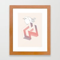 Birds and Impossible Objects III Framed Art Print