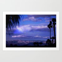 SUNDOWN IN PALM SPRINGS Art Print