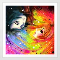 RAINBOW AND NIGHT Art Print