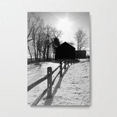 Winter Barns Metal Print