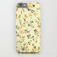 iPhone & iPod Case featuring vintage floral print by threequalsquare