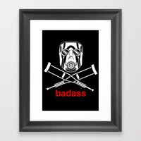 Badass - The Video Game Framed Art Print