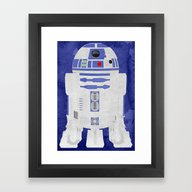 Framed Art Print featuring R2-D2 by Some_Designs