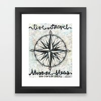 Live Travel Adventure Bless Framed Art Print