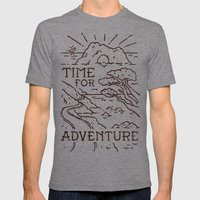 Time For Adventure Mens Fitted Tee Tri-Grey SMALL
