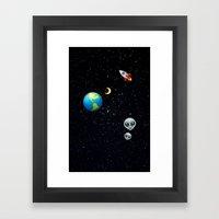 Space Emoji Framed Art Print