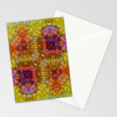 Burgundy and Olive Abstract Stationery Cards