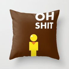 bad day Throw Pillow