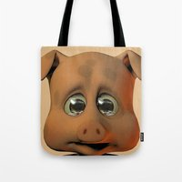A Scared Little Pig Tote Bag
