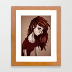 Red Girl Framed Art Print