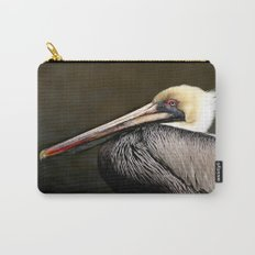 Brown Pelican Portrait Carry-All Pouch