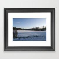 Snowy Lake Framed Art Print
