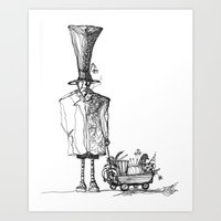 A man in a hat Art Print
