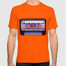 Mix Tape # 10 Mens Fitted Tee Orange SMALL