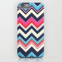 Navy Pink Chevron iPhone 6 Slim Case
