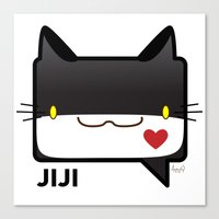 Convo Cats! Jiji Canvas Print