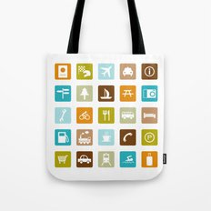 Travel Icons Tote Bag