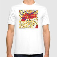 BOOGIE WOOGIE BERLIN Mens Fitted Tee White SMALL
