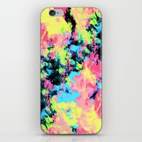 Blacklight Neon Swirl iPhone & iPod Skin