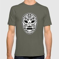 Mexican Wrestling Mask Mens Fitted Tee Lieutenant SMALL