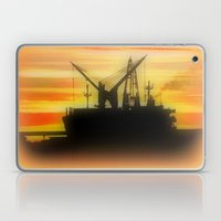 Silhouette of a Ship Laptop & iPad Skin