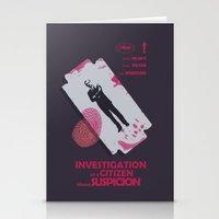 Investigation of a Citizen above Suspicion - Italian Masterpiece Movie Poster Stationery Cards