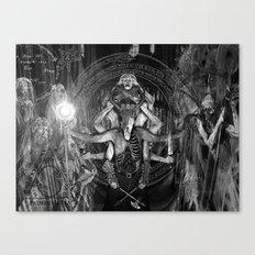 The Necromancer 2: Black & White Canvas Print