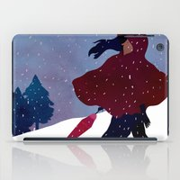 walking on snow iPad Case