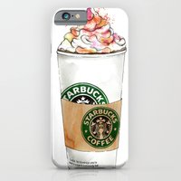iPhone & iPod Case featuring Starbucks by Vicky Ink.