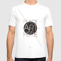 The Art Placeholder Mens Fitted Tee SMALL White