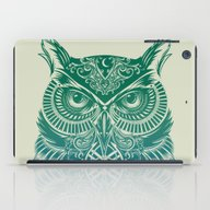 iPad Case featuring Warrior Owl by Rachel Caldwell