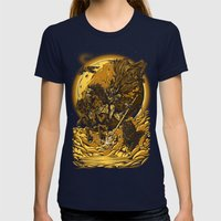 Odin Womens Fitted Tee Navy SMALL