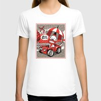 Drive Safely Womens Fitted Tee White SMALL
